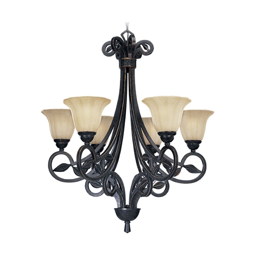 Progress Lighting Progress Chandelier with Beige / Cream Glass in Espresso Finish P4202-84