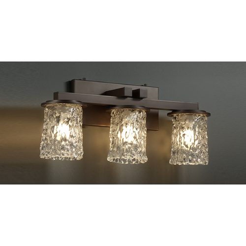 Justice Design Group Justice Design Group Veneto Luce Collection Bathroom Light GLA-8773-16-CLRT-DBRZ