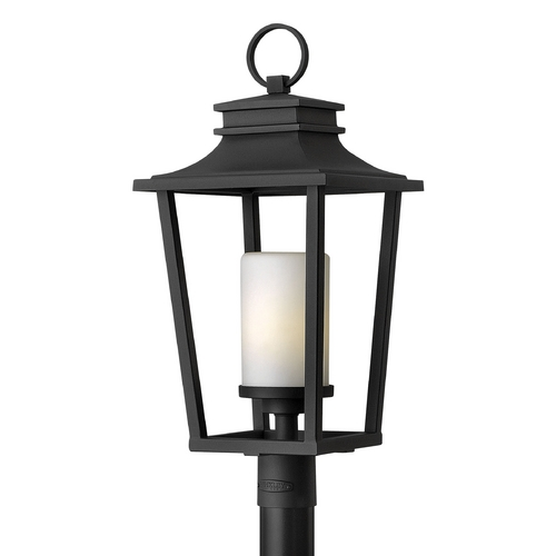 Hinkley Lighting Post Light with White Glass in Black Finish 1741BK-GU24