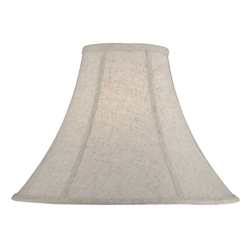 Lite Source Lighting Cross-Weave Linen Bell Lamp Shade with Spider Assembly CH1229-16