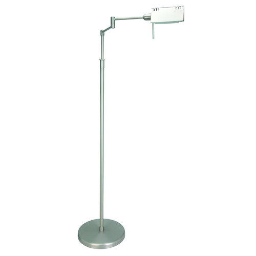 Lite Source Lighting Lite Source Pharma Polished Steel Floor Lamp with Rectangle Shade LS-960PS