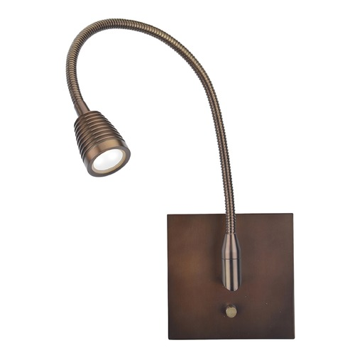 Access Lighting Access Lighting Taskwerx Bronze Swing Arm Lamp 72002LEDD-BRZ