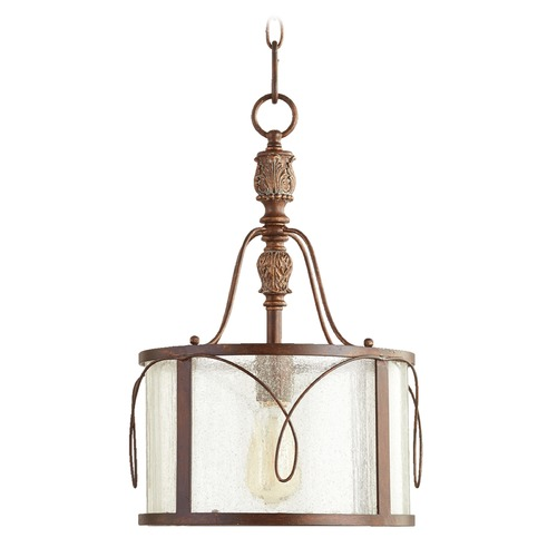 Quorum Lighting Quorum Lighting Salento Vintage Copper Pendant Light with Drum Shade 3506-39