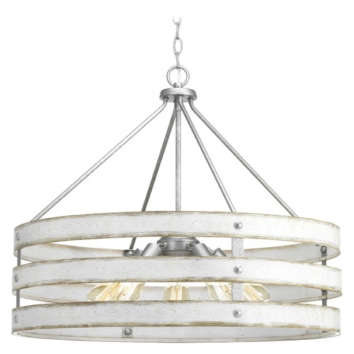 Progress Lighting Progress Lighting Gulliver Galvanized 5-Light Pendant P500090-141