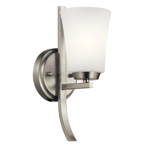 Kichler Lighting Transitional Sconce Brushed Nickel Tao by Kichler Lighting 45888NI