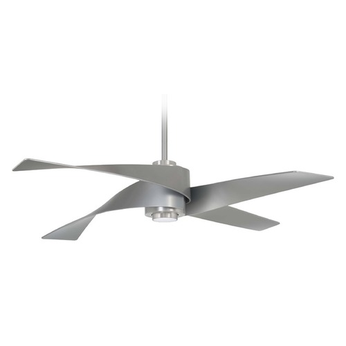 Minka Aire 64-Inch Minka Aire Artemis IV Brushed Nickel LED Ceiling Fan with Light F903L-BN/SL