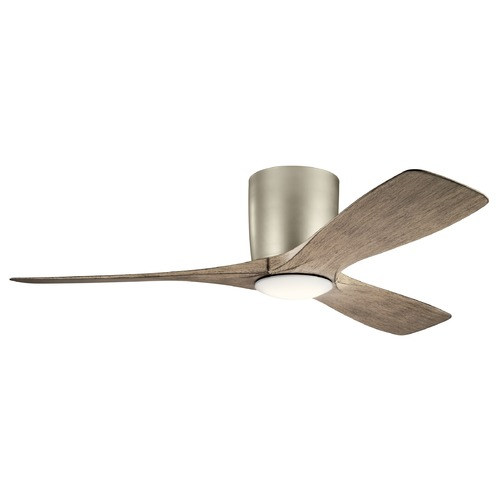 Kichler Lighting Volos Brushed Nickel LED 48-Inch Ceiling Fan with Light 3000K 300032NI