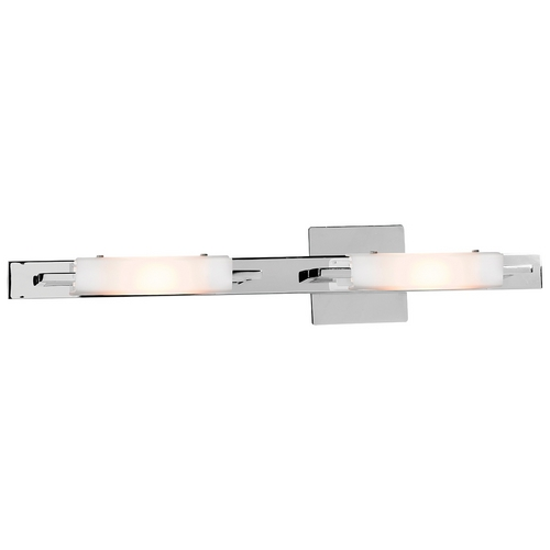 Access Lighting Modern Bathroom Light with White Glass in Chrome Finish 62252-CH/OPL