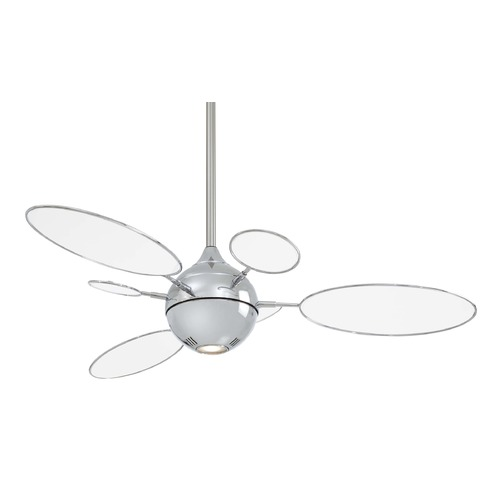 Minka Aire Minka Aire Fans Cirque Polished Nickel Ceiling Fan with Light F596-PN/TL