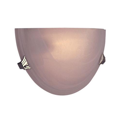 PLC Lighting Modern Sconce Wall Light with White Glass in Polished Brass Finish 5112 PB