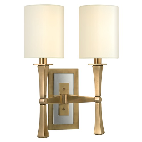 Hudson Valley Lighting York 2 Light Sconce - Aged Brass 2112-AGB