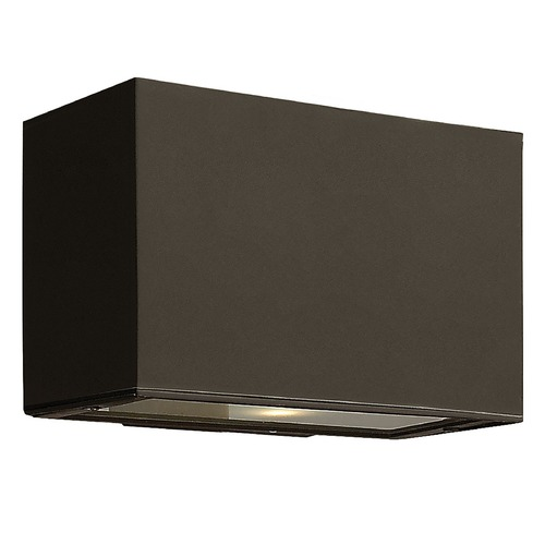 Hinkley Modern Outdoor Wall Light with Etched in Bronze Finish 1645BZ