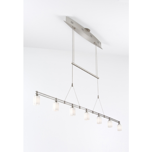 Holtkoetter Lighting Holtkoetter Modern Low Voltage Pendant Light with White Glass in Satin Nickel Finish 5517 SN G5014