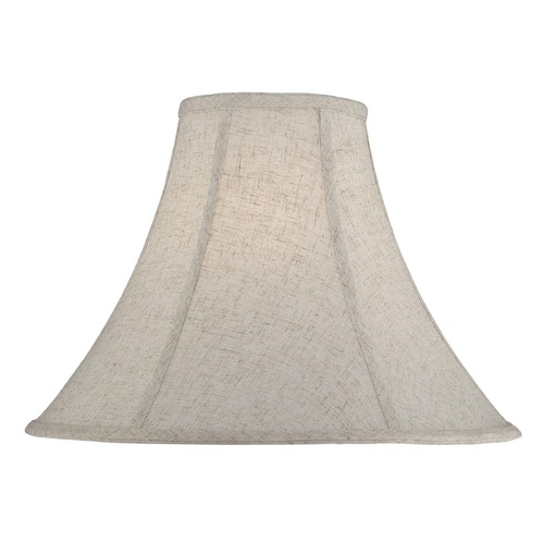 Lite Source Lighting Cross-Weave Linen Bell Lamp Shade with Spider Assembly CH1229-18
