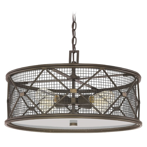 Capital Lighting Capital Lighting Jackson Oil Rubbed Bronze Pendant Light with Drum Shade 4894OR