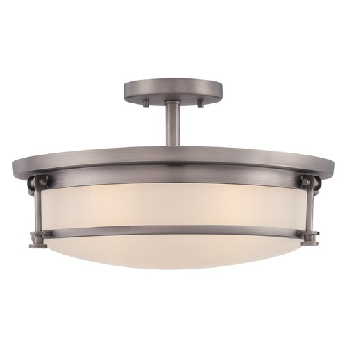 Quoizel Lighting Quoizel Sailor Antique Nickel Semi-Flushmount Light SLR1716AN
