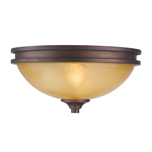 Golden Lighting Golden Lighting Hidalgo Sovereign Bronze Flushmount Light 1051-FM SBZ