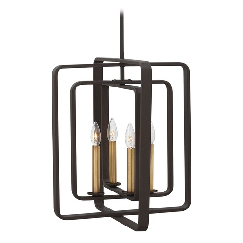 Hinkley Lighting Hinkley Quentin 4-Light Chandelier in Buckeye Bronze 4814KZ