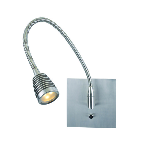 Access Lighting Access Lighting Taskwerx Brushed Steel Swing Arm Lamp 72002LEDD-BS