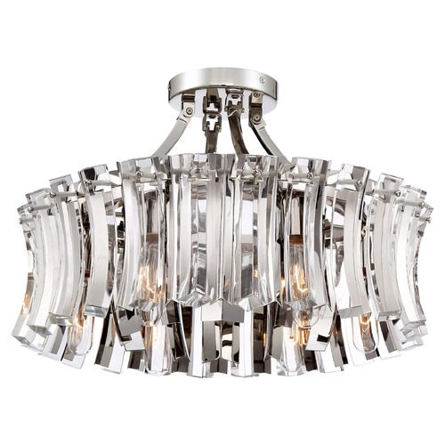 Metropolitan Lighting Elegance Royale Polished Nickel Semi-Flushmount Light N7255-613
