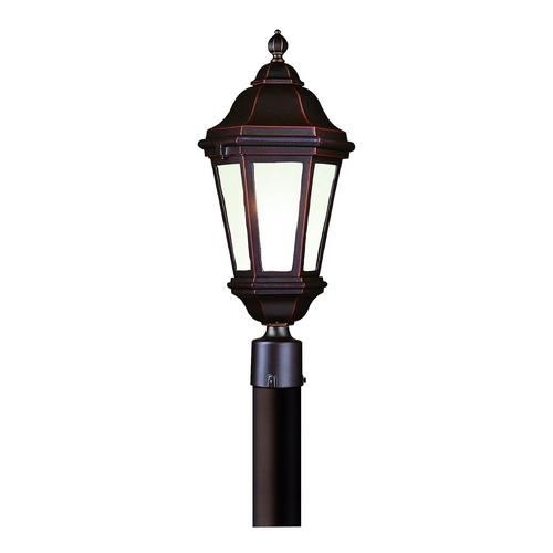Troy Lighting Post Light with Clear Glass in Bronze Patina Finish PFCD6832BZP