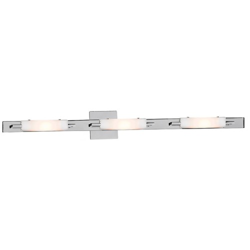 Access Lighting Modern Bathroom Light with White Glass in Chrome Finish 62253-CH/OPL
