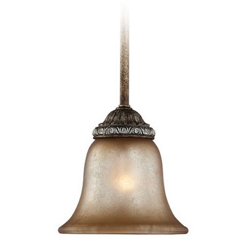 Dolan Designs Lighting Mini-Pendant with Aged Amber Glass  2401-162