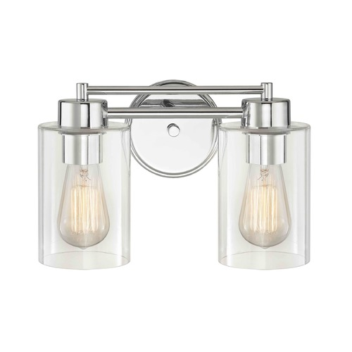 Design Classics Lighting Chrome Bathroom Light 702-26 GL1040C