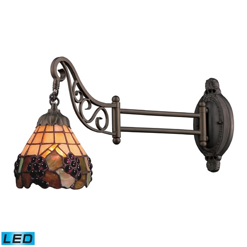Elk Lighting Elk Lighting Mix-N-Match Tiffany Bronze LED Swing Arm Lamp 079-TB-07-LED