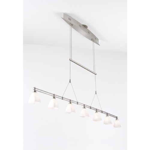 Holtkoetter Lighting Holtkoetter Modern Low Voltage Pendant Light with White Glass in Satin Nickel Finish 5517 SN G5015