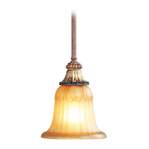 Livex Lighting Livex Lighting Villa Verona Bronze with Aged Gold Leaf Accents Mini-Pendant Light with Bell Shade 8570-63