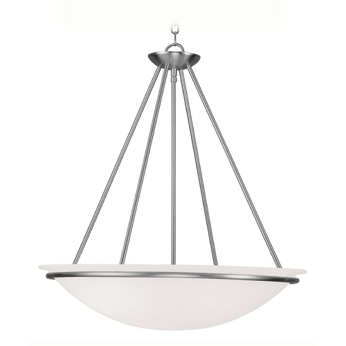 Livex Lighting Livex Lighting Newburgh Brushed Nickel Pendant Light 4827-91
