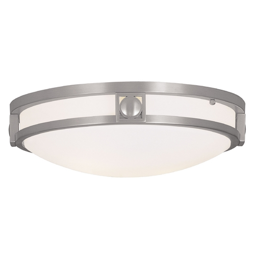 Livex Lighting Livex Lighting Titania Brushed Nickel Flushmount Light 4487-91