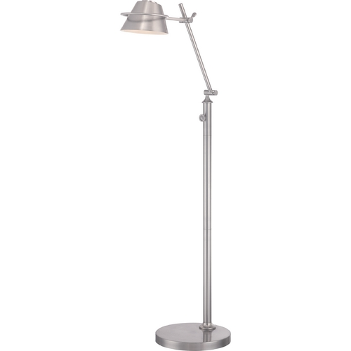 Quoizel Lighting Quoizel Spencer Brushed Nickel LED Swing Arm Lamp with Empire Shade VVSP9348BN