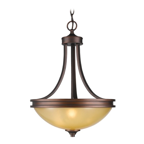 Golden Lighting Golden Lighting Hidalgo Sovereign Bronze Pendant Light 1051-3P SBZ
