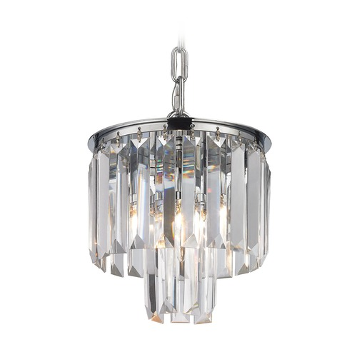 Elk Lighting Elk Lighting Palacial Polished Chrome Mini-Pendant Light 15214/1