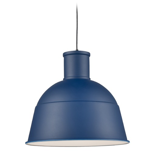 Kuzco Lighting Kuzco Lighting Irving Indigo Blue Pendant Light with Bowl / Dome Shade 493516-IB