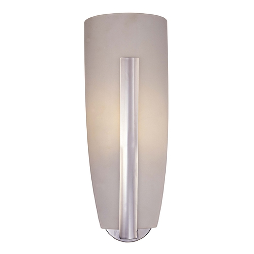 George Kovacs Lighting Modern Sconce Wall Light with White Glass in Chrome Finish P461-077