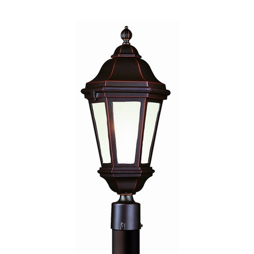 Troy Lighting Post Light with Clear Glass in Matte Black Finish PFCD6832MB