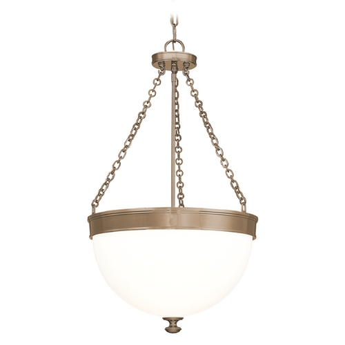 Hudson Valley Lighting Pendant Light with White Glass in Historic Bronze Finish 327-HB