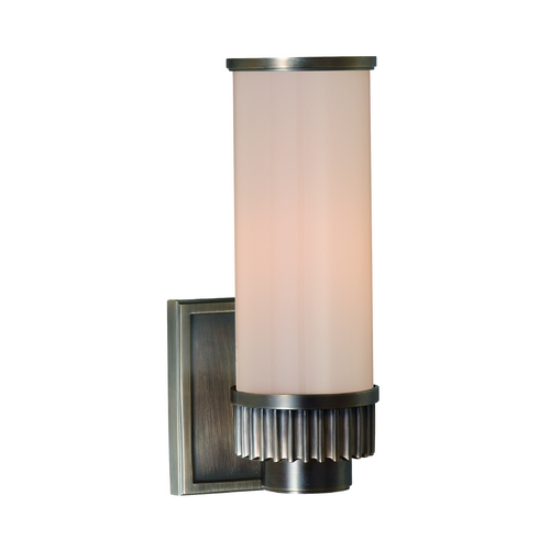 Hudson Valley Lighting Modern Sconce with White Glass in Distressed Bronze Finish 1561-DB