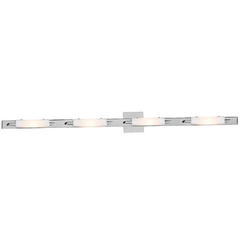 Access Lighting Modern Bathroom Light with White Glass in Chrome Finish 62254-CH/OPL