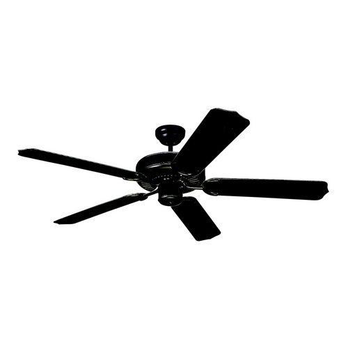 Monte Carlo Fans Ceiling Fan Without Light in Matte Black Finish 5WF52BK