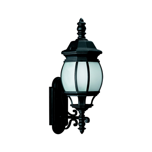 Sea Gull Lighting Outdoor Wall Light with White Glass in Black Finish 89103BLE-12