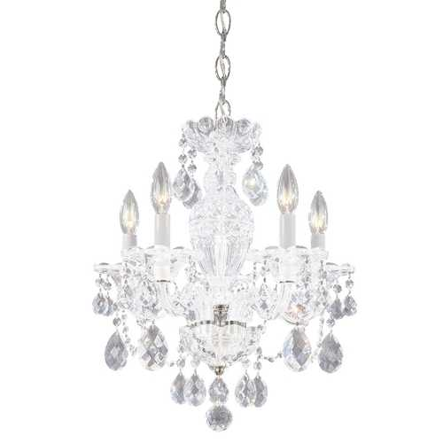 Schonbek Lighting Schonbek 5-Light Crystal Chandelier in Polished Silver J- 2999-40H