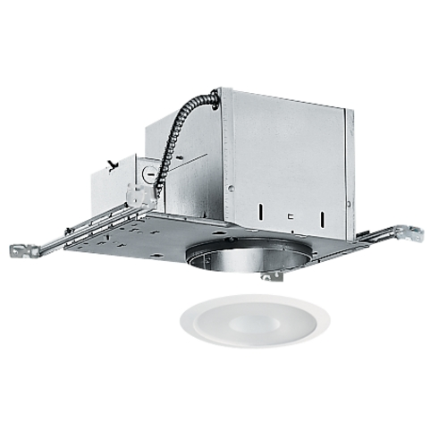 Juno Lighting Group 6-inch Recessed Lighting Kit with Frosted Shower Trim IC2/242-WH