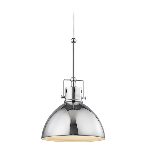 Design Classics Lighting Chrome Dome Metal Pendant Light 2038-1-26