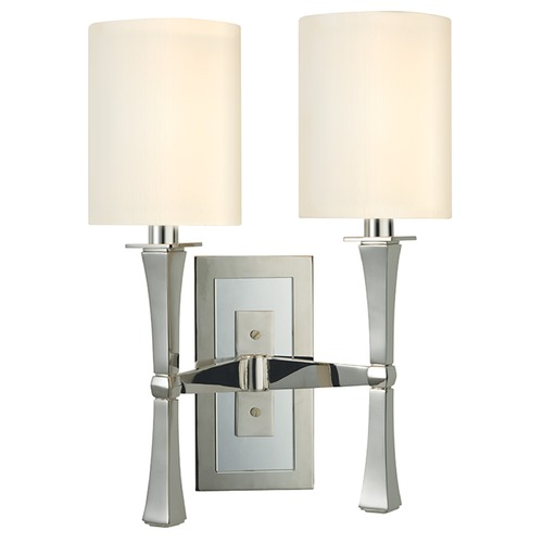 Hudson Valley Lighting York 2 Light Sconce - Polished Nickel 2112-PN
