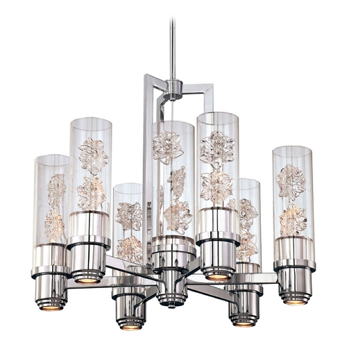Metropolitan Lighting Modern Chandelier with Clear Glass in Chrome Finish N6636-77