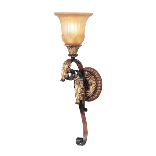 Livex Lighting Livex Lighting Villa Verona Bronze with Aged Gold Leaf Accents Sconce 8581-63